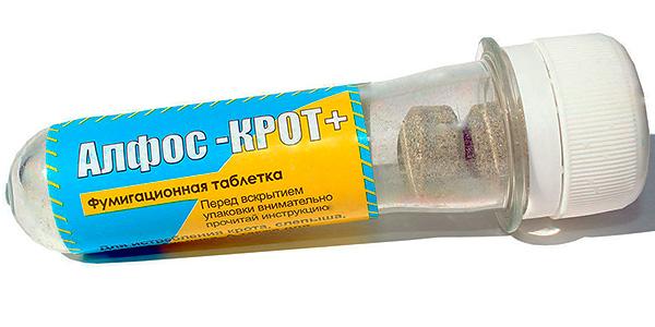 Фумигационные таблетки от кротов Алфос