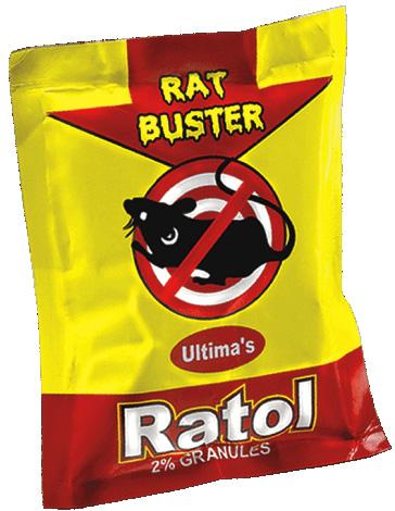 Ратол - не самый известный, но достаточно эффективный крысиный яд на основе антикоагулянта второго поколения.
