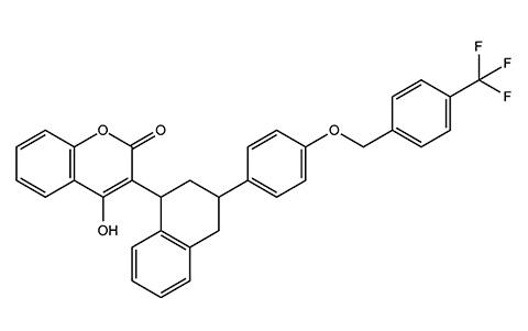 Флокумафен (высокоэффективный антикоагулянт крови).