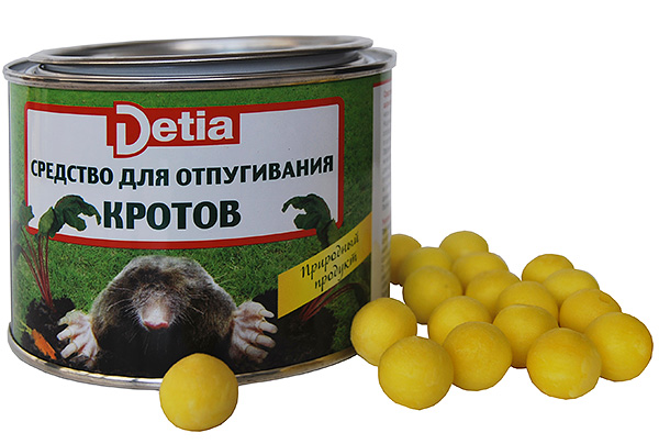 Шарики для отпугивания кротов Detia