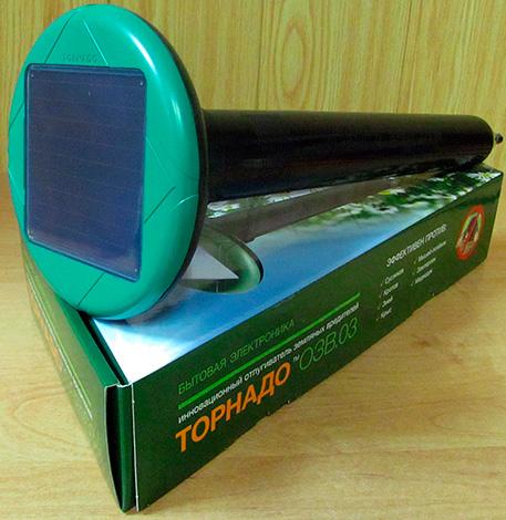 Электронный отпугиватель кротов Торнадо ОЗВ 03 с солнечной батареей.