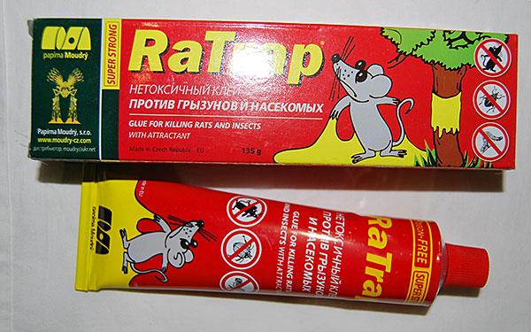 Чешский клей против грызунов и насекомых RaTrap.