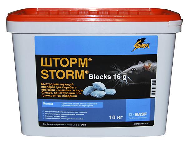 Одним из самых доступных по цене средств от крыс для применения в домашних условиях является Шторм (Storm).