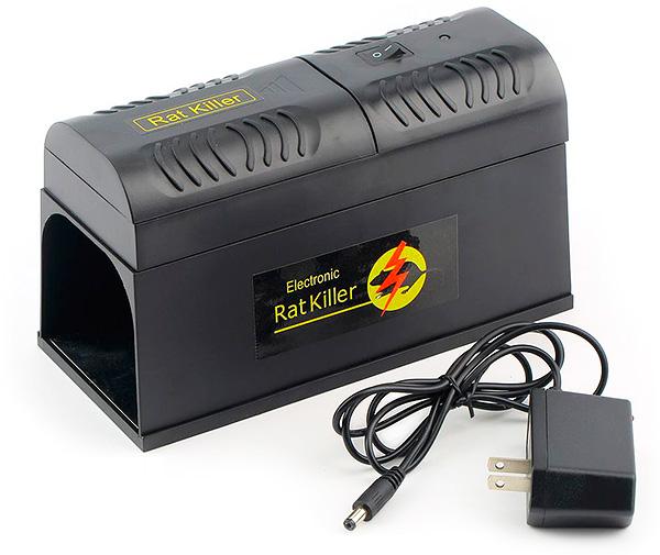 Электрические крысоловки уничтожают крыс и мышей током высокого напряжения.