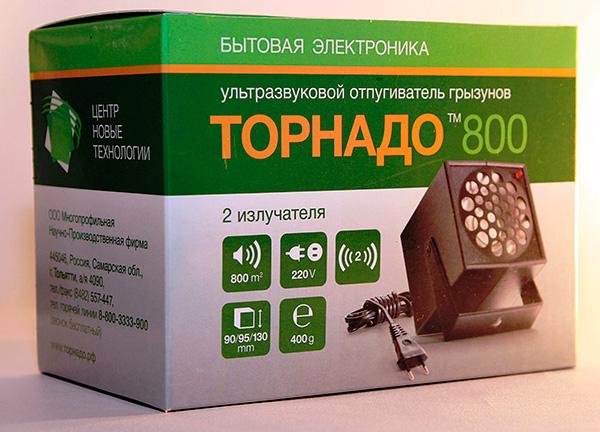 Ультразвуковой отпугиватель Торнадо 800 тоже довольно эффективен от крыс и мышей.